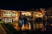 Florenz Brigitte Schindler Arno Ponte Vecchio Nachtaufnahme Fotografie 4370